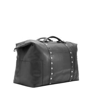Hammitt Black LAX Duffel Weekender Travel Carry On Gun Leather Bag Handbag NEW