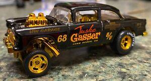 Hot Wheels Custom 55 Bel Air Gasser gold Real riders