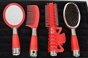 Gift Set Hair Growth Comb Brush Mirror Curling Iron Clip Multi Color Plastic