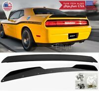 For 08-14 Dodge Challenger Rear Decklid Wing Spoiler w/ Wickerbill Gurney Flap