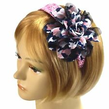 Handmade Fascinator Headband Hot Pink Sequin Flower Hairband Grace of New York