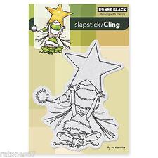 New Penny Black LITTLE ELF AVA Slapstick Cling Rubber Stamp Christmas Star Girl