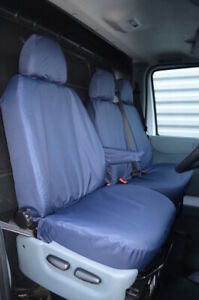 Navy Tailored 100% Waterproof Seat Covers Front 3 for Ford Transit Van MK7 MK6