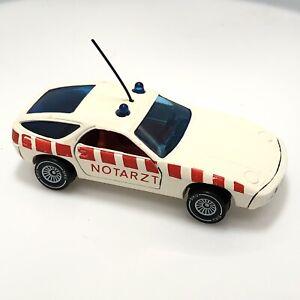 Siku Vintage Porsche 928 White 1037 1979 Notarzt Ambulance West Germany Clean