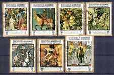 Chevaux Qu' aiti state (31) série complète de 7 timbres oblitérés