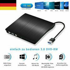 Extern USB 3.0 CD-RW DVD Brenner Slim Laufwerk Portable Brenner für PC Laptop DE