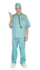 Doctor Surgeon SCRUBS Halloween Costume Cap Top Pants Stethoscope Men