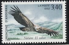 TIMBRE ANDORRE FRANCE NEUF N° 421  **  FAUNE VAUTOUR