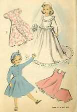 """21"""" Revlon Cissy Toni Sweet Sue Doll Clothes PATTERNS Wedding Gown Suit Tam Slip"""