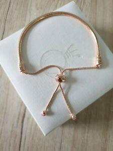 Genuine Rose Ale Met Pink Peach Blossom Pandora Moments Slider Bracelet