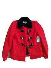 New with tag Juicy Couture Red toggle coat jacket small wool