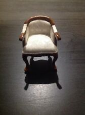 The Dolls House Emporium Desk Chair Upholstered in Fine Damask(5975)