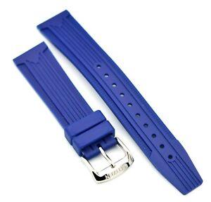 Original Citizen 18mm Blue Rubber Watch Strap For Eco Drive