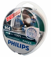 H4 PHILIPS X-treme Vision +130% P43t Halogen 2er Box 12342XV+S2