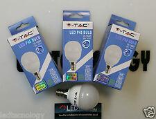 LAMPADINE LAMPADA LED V-Tac E27 E14 6W SFERA MINI GLOBO CALDO NATURALE FREDDO