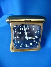 GERMANY  EMES TRAVEL POCKET VINTAGE CLOCK GREEN CASE