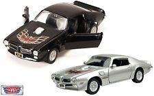 1:24 1973 Pontiac Firebird Trans Am (Black / Silver) Motor Max American Classics