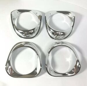 Set Headlight Trim Bezels For 1963 Chevrolet Bel Air, Biscayne, & Impala