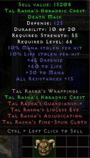Tal Rasha's Crest Set Mask | Tal Rashas Helm | Diablo 2 Resurrected D2R SC PC