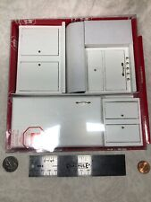 1:12 Town Square Miniature Furniture White Wood Kitchen Set Oven Fridge Sink #S