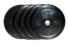 Troy USA 260lb Black Olympic Rubber Bumper Plates Weight Set for Fitness