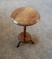 VINTAGE WOOD PEDESTAL END TABLE.....HIMARK