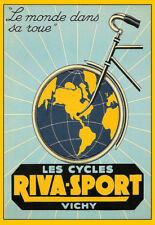 Bicycle Bike Cycles Riva Sport  Cycle Deco  Art Poster Print