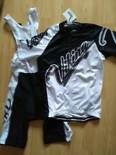 Viking Heritage Short Sleeve Full Zip Cycling Jersey White Black with bib Shorts