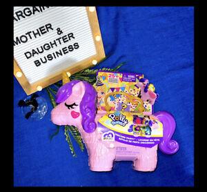 Mattel Polly Pocket Unicorn Party Playset - Great Girls Birthday Gift - Pegasus