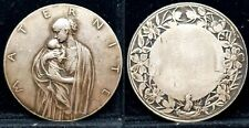OSCAR ROTY - medaille - Argent massif - Maternité - rare - 37mm