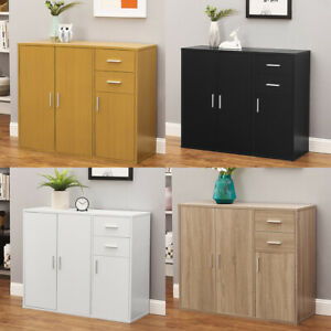 Modern Sideboard Cabinet Cupboard Unit Storage Furniture With 2 Drawer & 3 Door