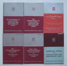 Lot of 5 Firth-Vickers Stainless Steels Ltd. Vintage Booklets, 1950s?