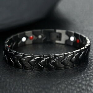 Strong Magnetic Bracelet Titanium Therapy Bracelets for Men Arthritis Relief