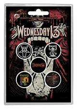 Wednesday 13 Condolences Button Set 5 Pack Music Band Official Bb029