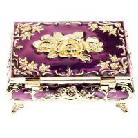 Russian Style Diamond Jewelry Box Jewelry Storage Box Wedding Gift -Purple