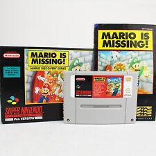 Snes - Mario is Missing! Spiel Für Super Nintendo (Ovp + Anleitung) 5
