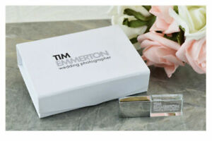 Crystal USB 3.0 Flash Pen Drive Customized Photo Wedding logo Elegant Paper Box