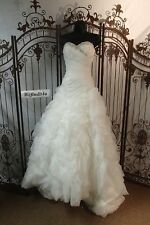 NC49 ALFRED ANGELO 2311 SZ 0 IVORY SILVER STRAPLESS BALL GOWN WEDDING DRESS