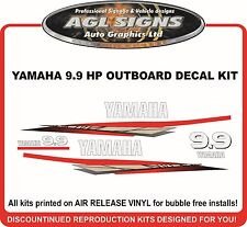 YAMAHA 9.9 HP Outboard Decal Kit , reproductions  15 hp also available