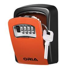 1x ORIA Wall Mounted 4-Digit Combination Key Lock Storage Case Box Safe Security