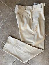Tommy Bahama New St Thomas Flat Front Pants 36 34 Abbey Stone Cotton Blend NWT