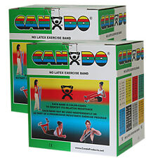 CanDo Latex Free Exercise Band-100 yard (2 x 50 yard rolls)-Green-medium-1371031