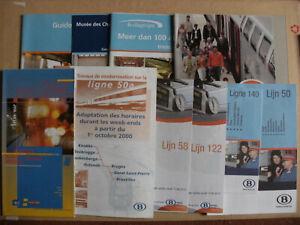 10 Belgian Railway Train Timetables Maps Leaflets 2000 - 2010 SNCB NMBS Set 4