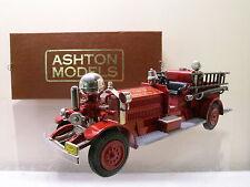 ASHTON MODELS AH7 AHRENS FOX NS4 FIRE PUMPER PITTSBURGH RED 1923 BOXED  1:43