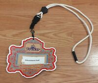 Disney World Expedition Permit April 2006 Entertainment Staff Badge & Lanyard