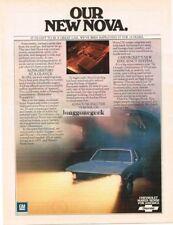 1975 Chevrolet Chevy Nova LN Blue Vtg Print Ad