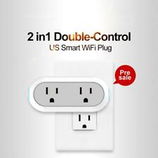 2-in-1 Smart WiFi Plug Dual Outlets Socket App Remote Control Energy Monitoring