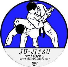 JU-JITSU DETAILED TRAINING LESSONS DVD 1 WHITE YELLOW & GREEN BELT TUTORIAL NEW