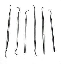6PC Dental Pick Set Stainless Steel HBM Tools new UK Stocked