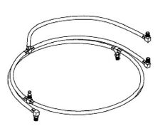 Midmark Ritter Back Power Hose Kit - RPI Part #MIH068 - OEM Part #002-0012-00